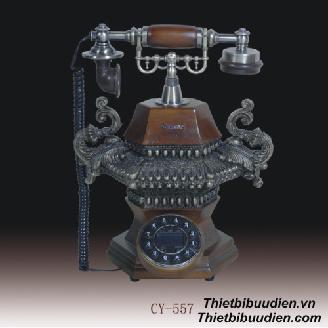 Điện thoại giả cổ ODEAN  Wooden Antique Phone